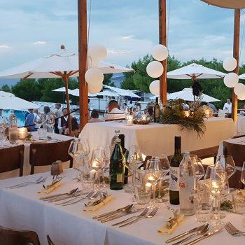 Insel mieten Kroatien Privatinsel Corporate Island Resort Dinnerparty