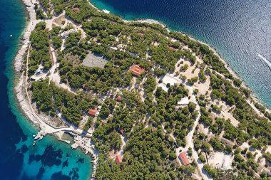 Insel mieten Kroatien Incentivereisen Firmenevent Firmenreisen Insel von oben Drone